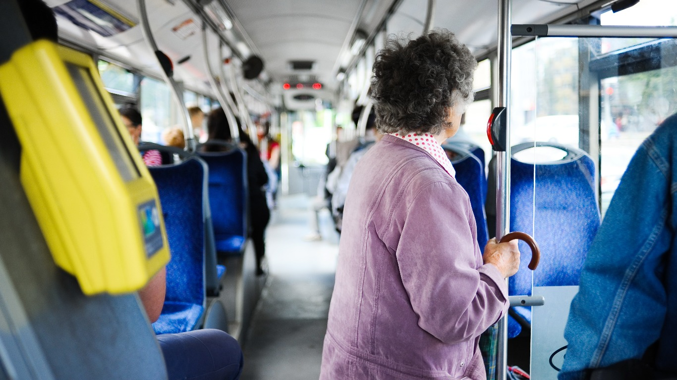 Elderly Brits can get free or discounted travel on buses and trains (Image: Shutterstock)