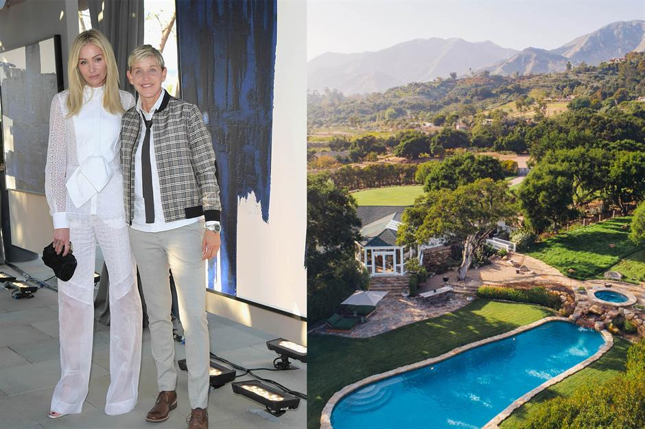 From Ellen DeGeneres' farm to Dr Dre's mansion: the stars