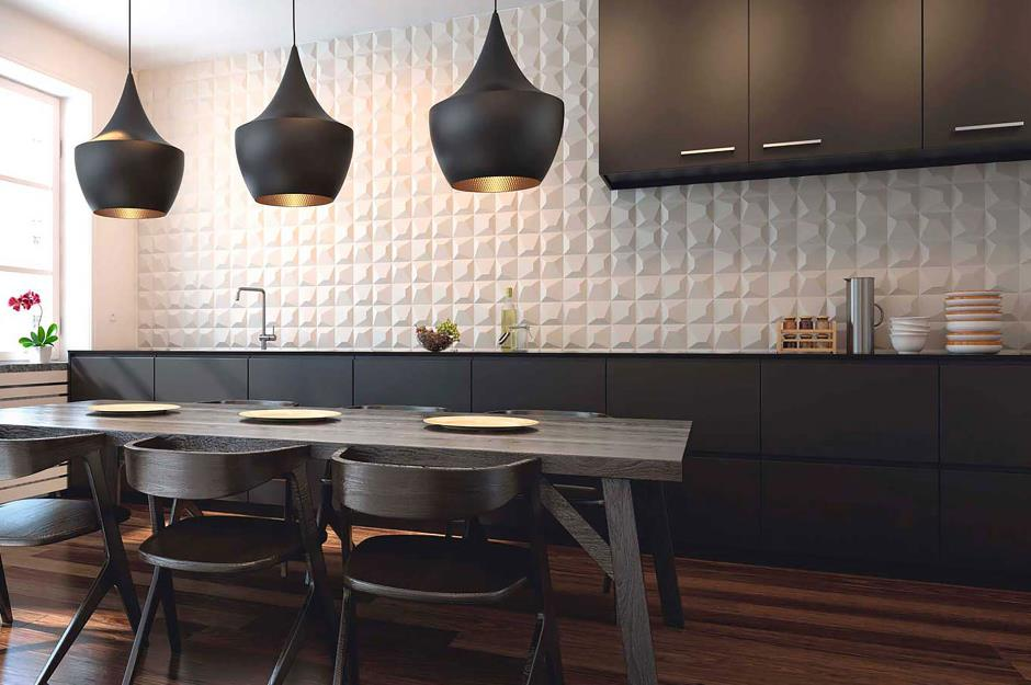 3-D textured tiles & Kitchen wall tiles: Ideas for every style and budget | loveproperty.com