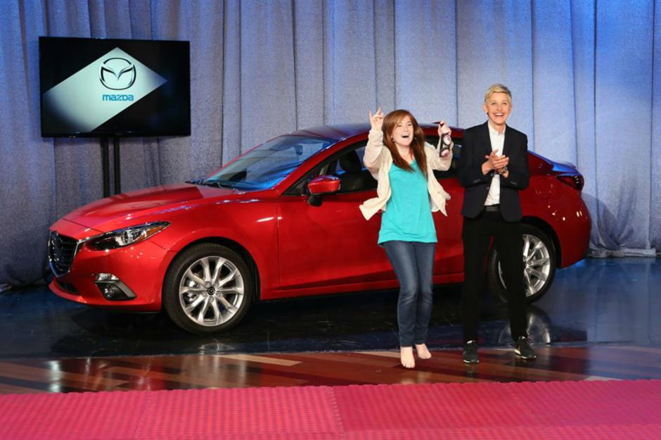The Celebrities Who Give Away Their Millions Lovemoneycom - Ellen degeneres show car giveaway