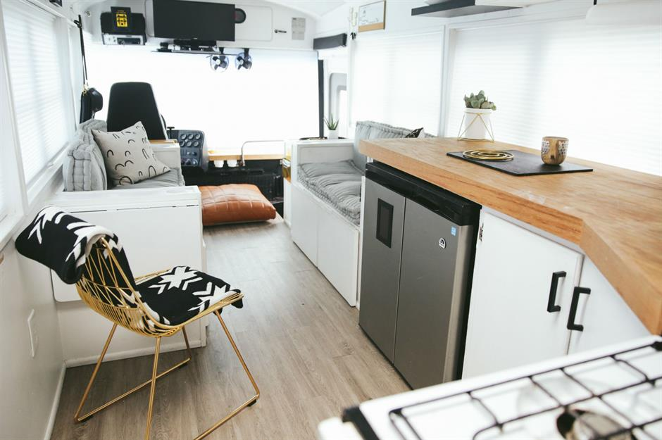 School Bus Conversion A Masterclass In Tiny Living With The Mayes