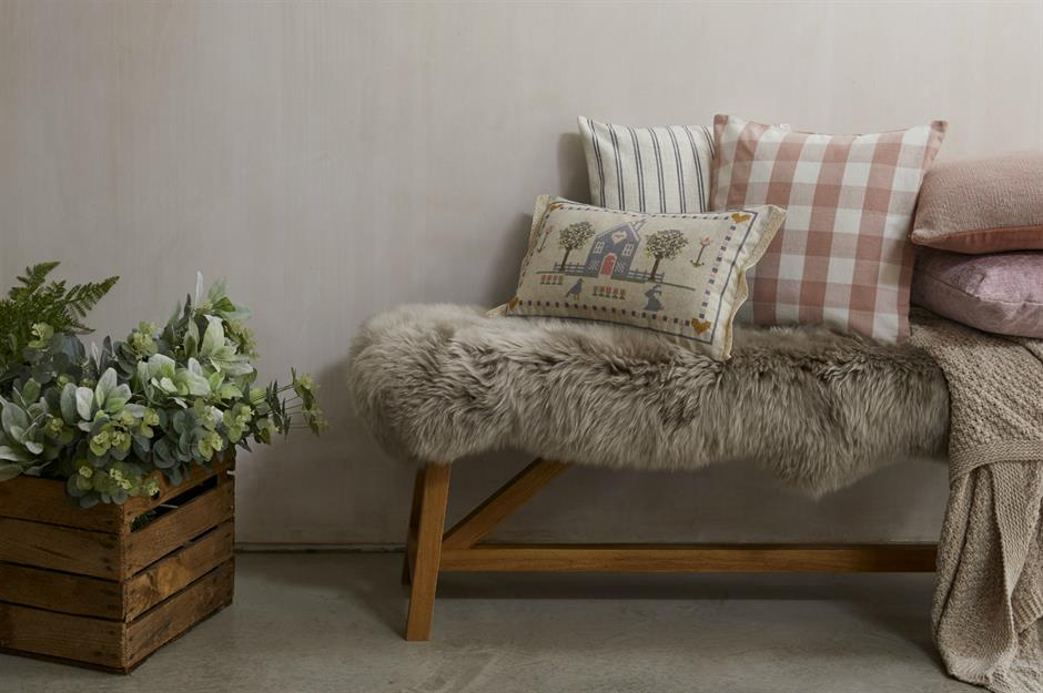 Hallway with homely touches - Dunelm  - cosy autumn decorating ideas
