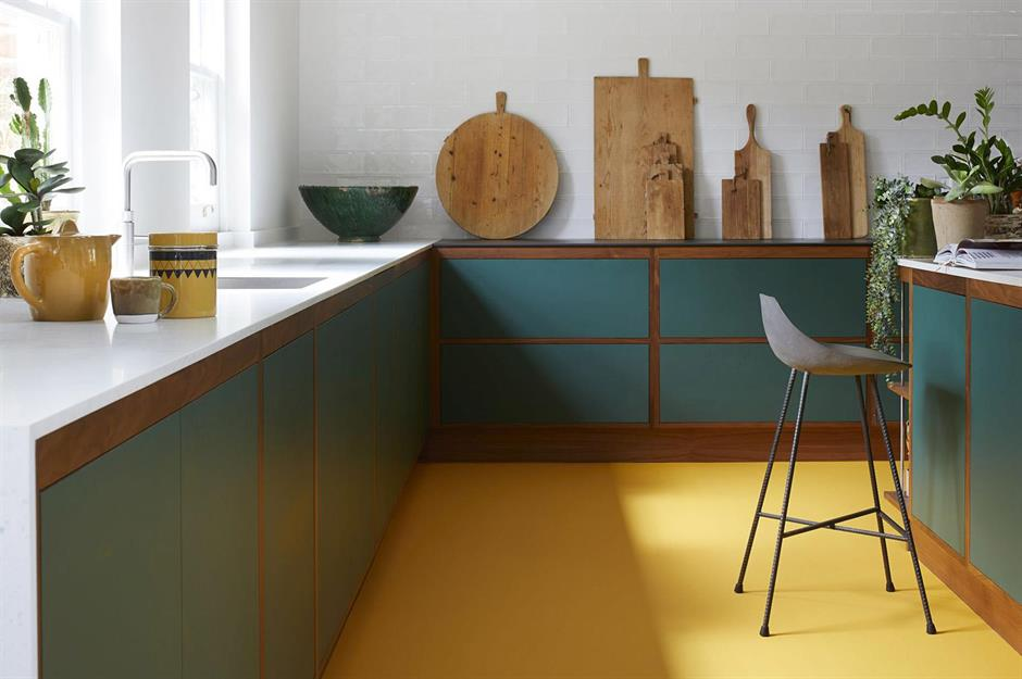 Yellow vinyl floor - Carpetright - kitchen flooring ideas & Cool kitchen flooring ideas that really make the room | loveproperty.com