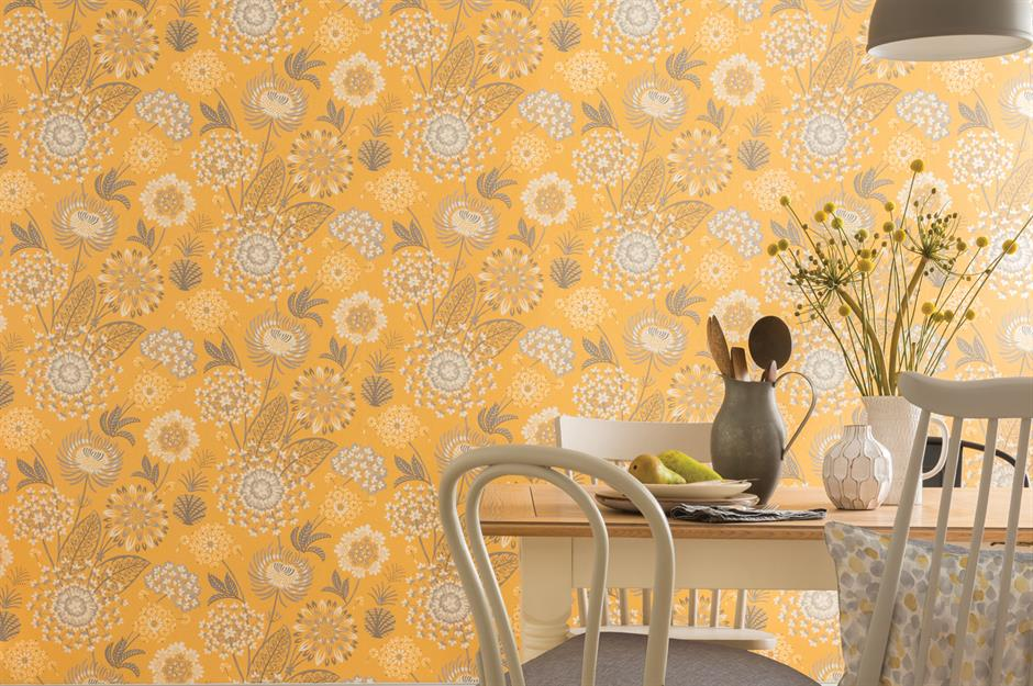 Yellow wallpaper Arthouse & 55 stunning wallpaper ideas to give your decor the wow factor ...