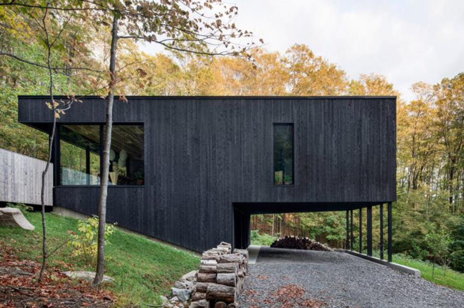 black vincent timber clad houses | 18 black houses that will make you turn to the dark side ...