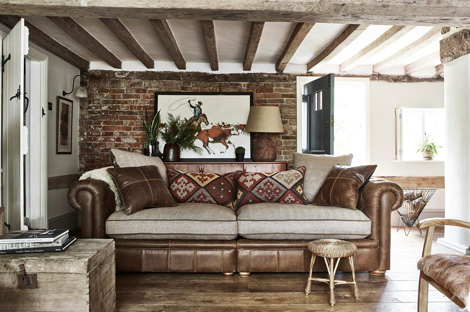39 design secrets for successful open plan living - How to divide a living room into a bedroom ...