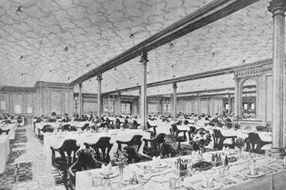 Dining In Second Class. Titanic.nmni.com/In Public Domain Part 96