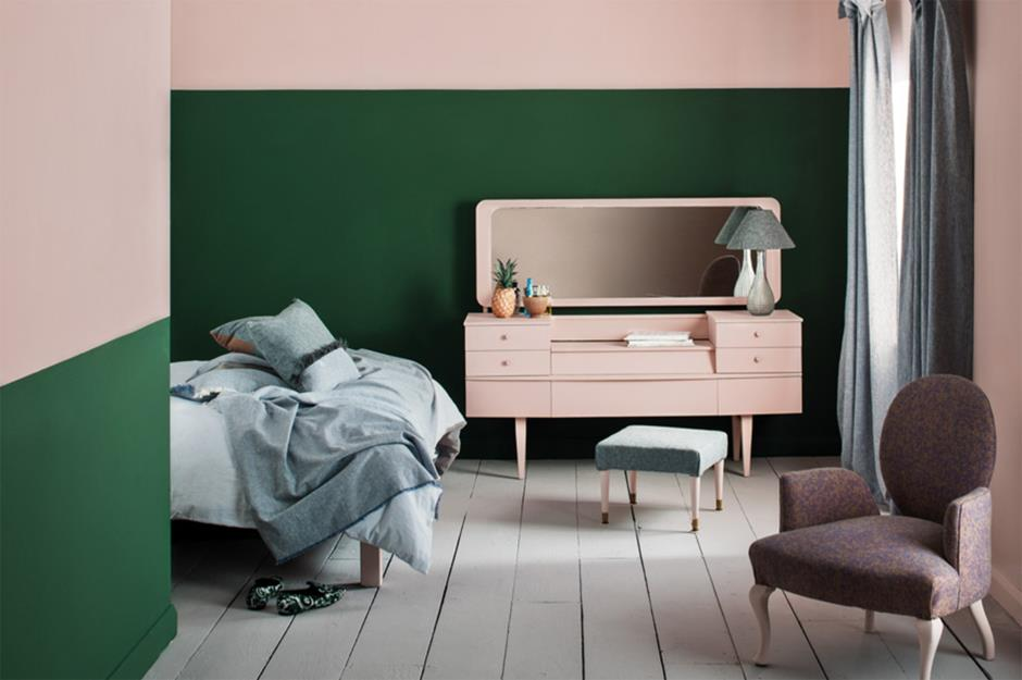 Pale Pink And Forest Green