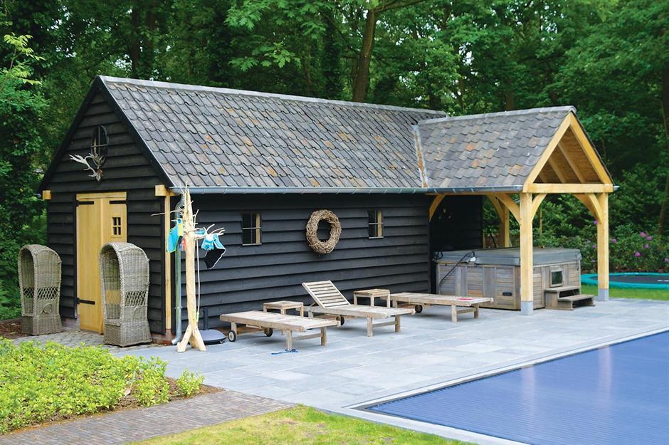 Workshop House Extension Design Shed Building Plans Pool Shed