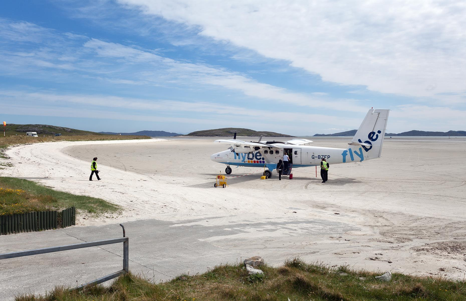 Outer Hebrides, Barra beach airport