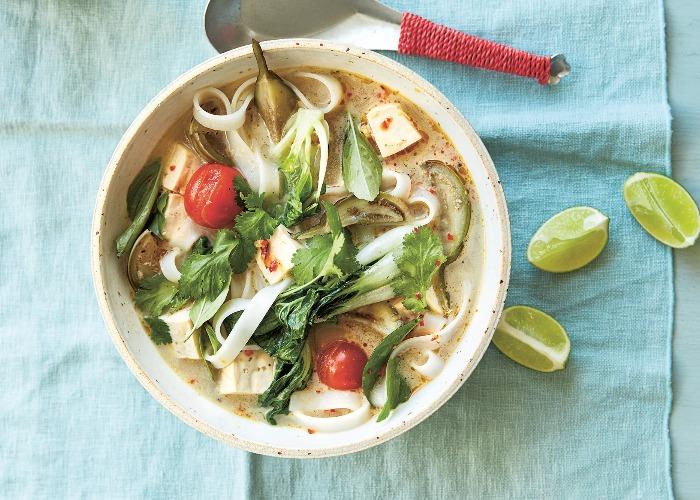 Thai aubergine tom yum soup recipe