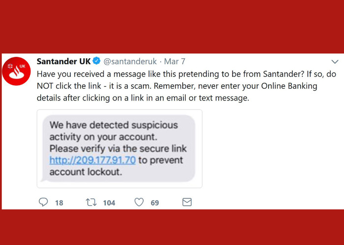 Santander Suspicious Activity Text Message Scam How To Stay Safe