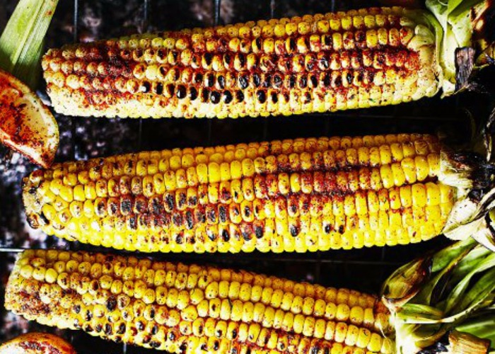 Flame-grilled spiced sweetcorn recipe