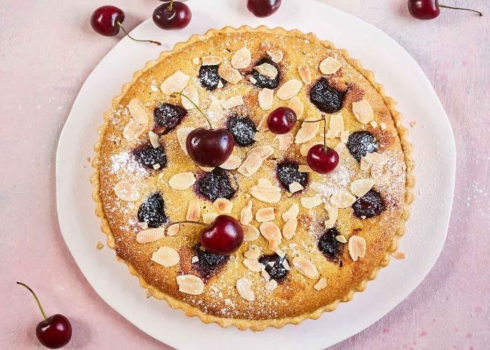 Cherry and pistachio frangipane tart recipe