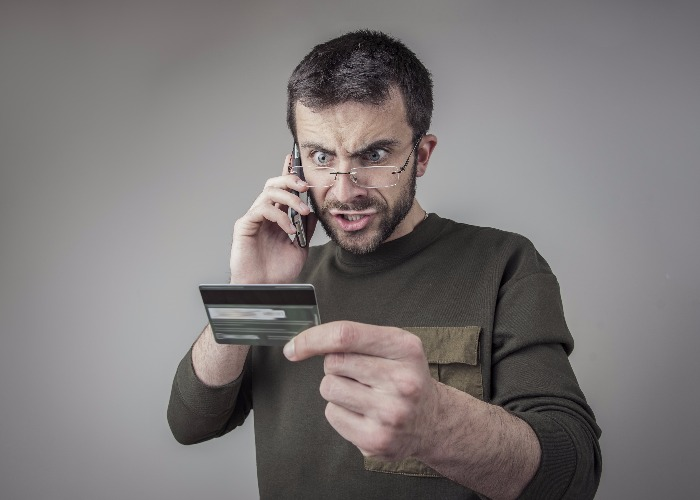 Man cancels card (image: Shutterstock)