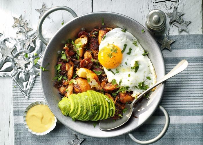 Turkey, chorizo and avocado hash recipe