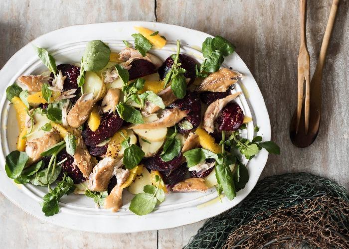 Smoked Mackerel Orange And Beetroot Salad Recipe