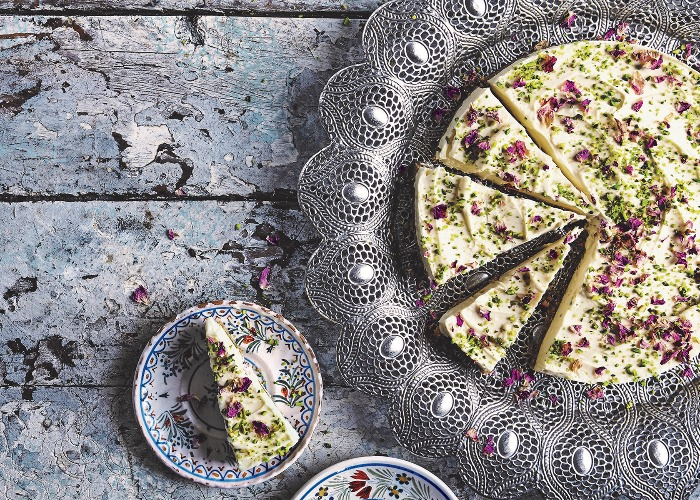 Rosewater and pistachio cheesecake recipe