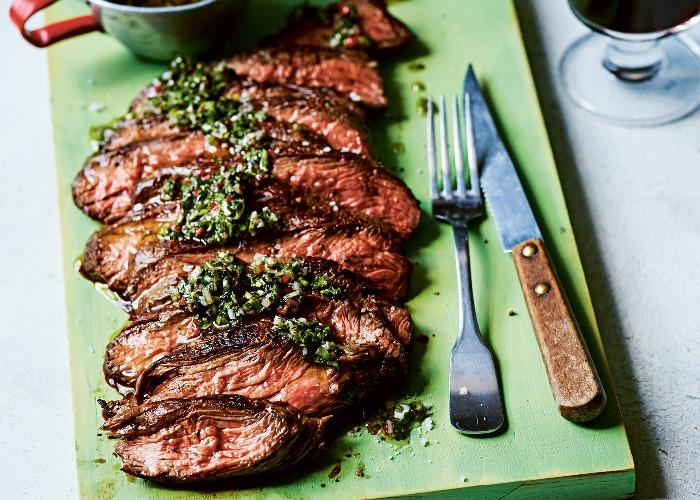 Skirt steak with chimichurri recipe
