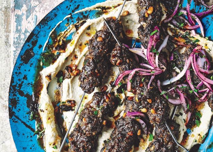 Spiced beef skewers recipe