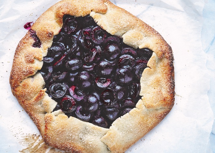 Cherry and almond galette recipe