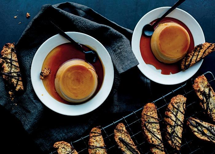 Vegan espresso crème caramel recipe