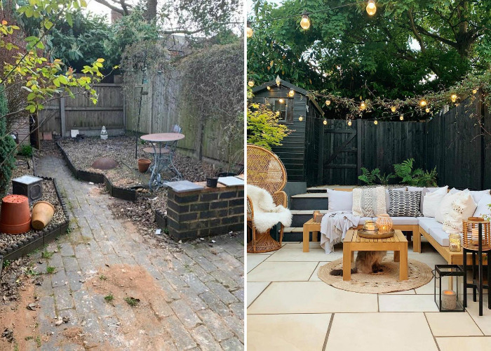 Bargain backyard makeovers: before and after