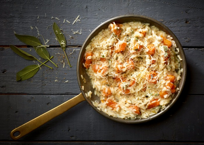 Butternut squash, sage and Comté risotto recipe