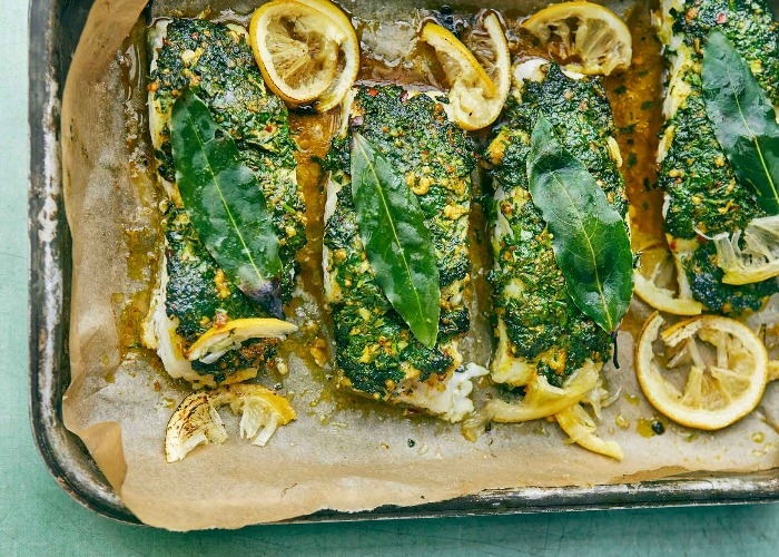 Roasted cod with a coriander crust recipe