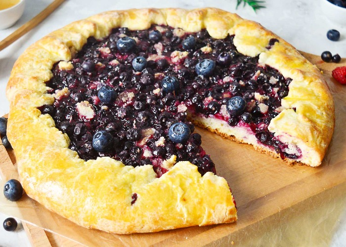 Summer berry galette recipe