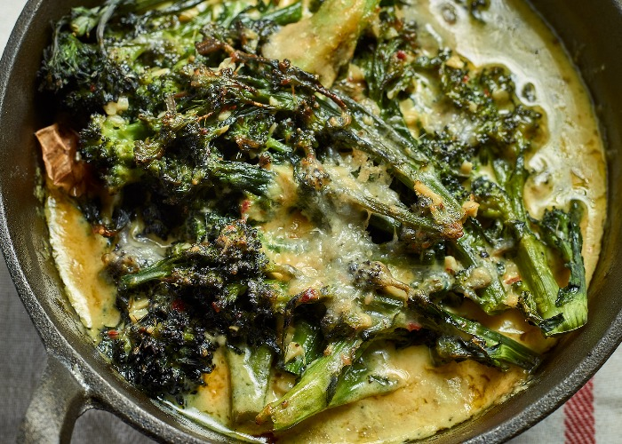 Roasted purple sprouting broccoli recipe