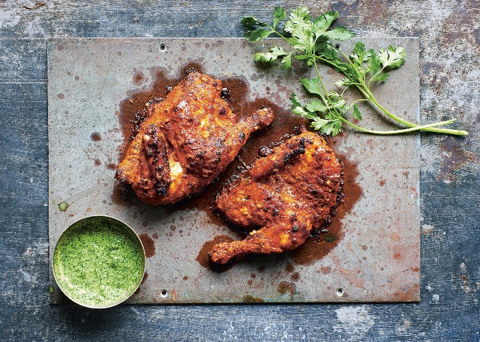 Tandoori Chicken With Bhurani Raita Recipe