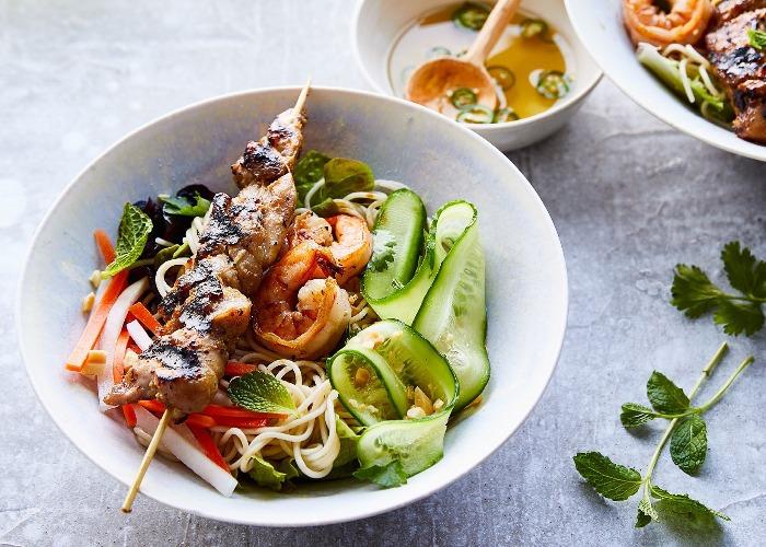Rice noodle salad bowl recipe