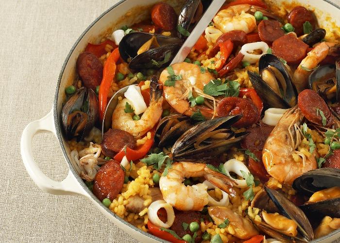 Classic paella recipe