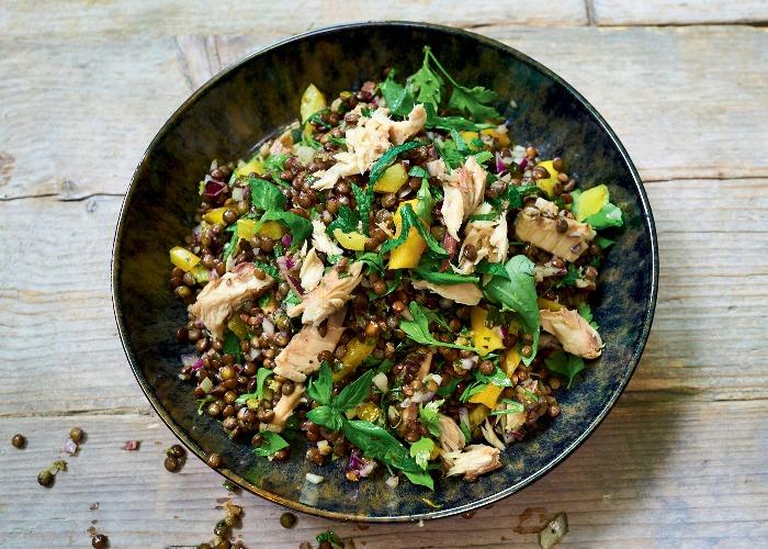 Smoked mackerel and lentil salad recipe