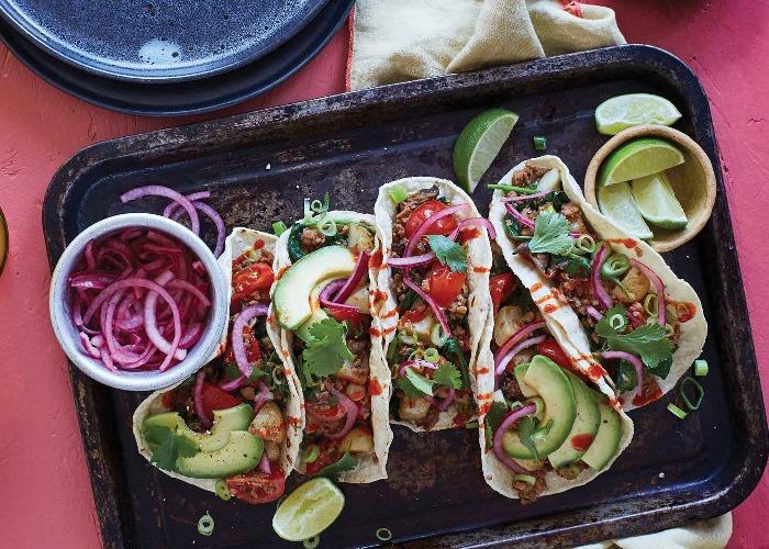 Breakfast hash tacos recipe