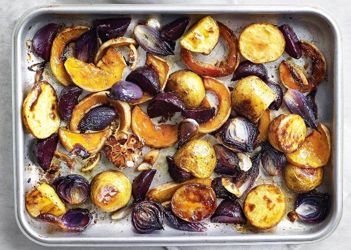 Honey-roasted vegetables