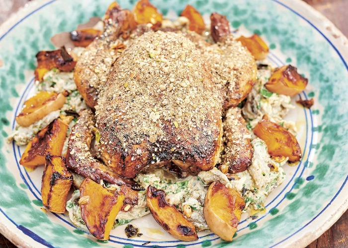 Dukkah roast chicken