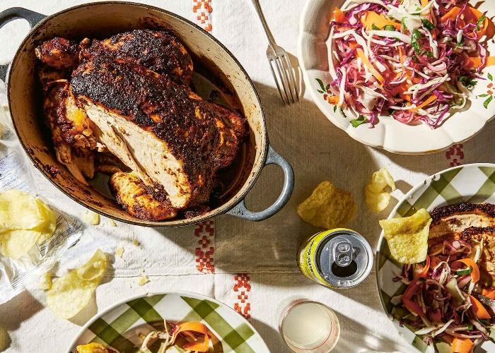 Ancho rub pot chicken recipe