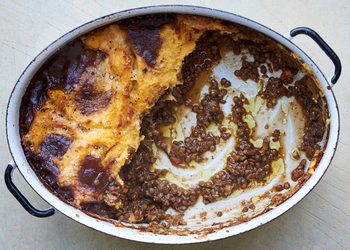 Mushroom and lentil shepherd's pie recipe