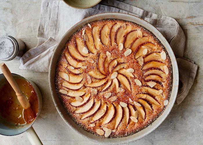 Brioche frangipane apple pudding recipe