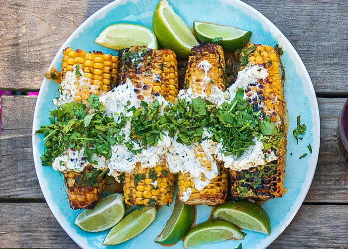 Mexican-style barbecued corn on the cob recipe