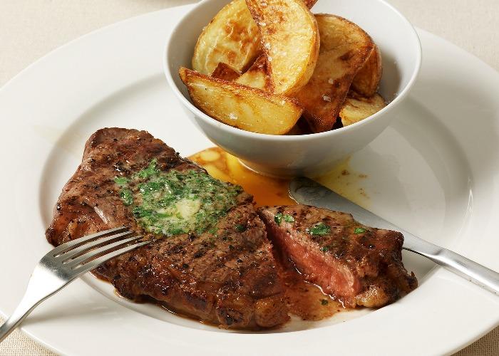 Steak with garlic butter recipe