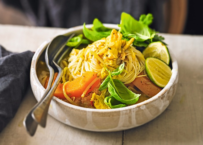 Turkey and squash laksa recipe