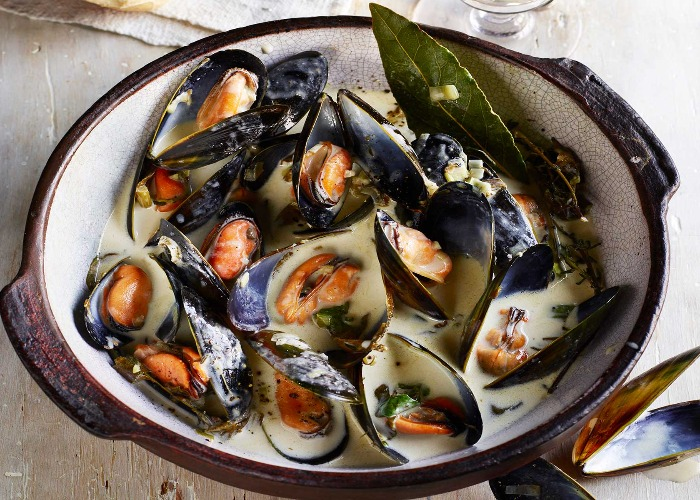 Cornish mussels with cider