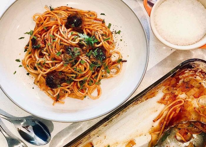 Traybake spaghetti recipe