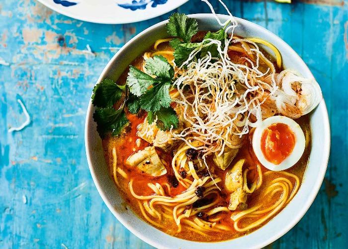 Ohn no khauk swe (coconut chicken noodles) recipe
