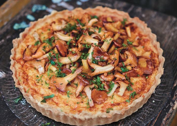 Mushroom and cheese pie recipe