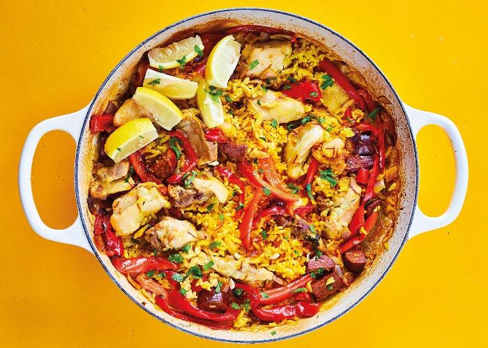 Chicken and chorizo paella recipe