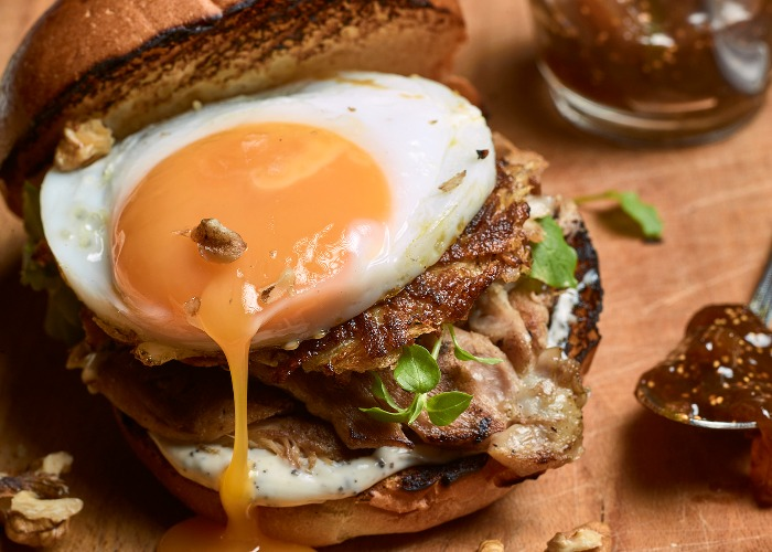 Leftover turkey burger with fig ketchup recipe